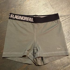 Flag Nor Fail Compression Short Grey/Black workout